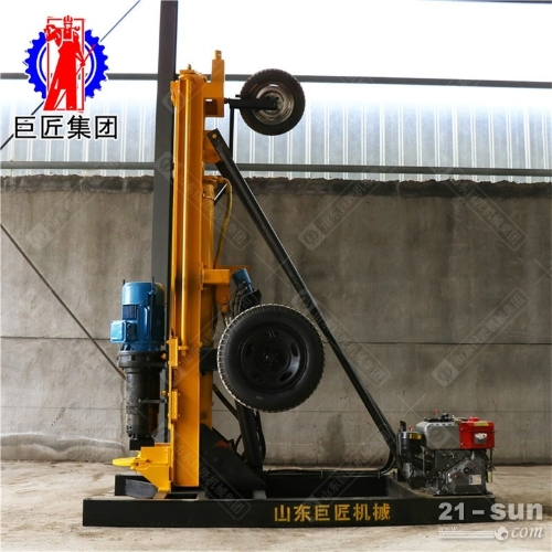 200型风动打井钻机巨匠牌潜孔钻机气电联动kqz-200D打岩石进尺快