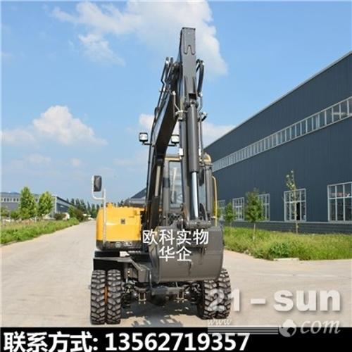 小型市政工程胶轮挖掘机13吨轮式挖掘机