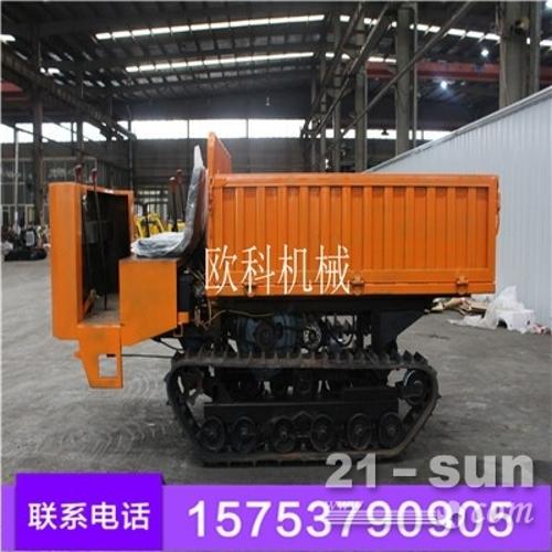 小型林业履带运输车 水田林业搬运车出售 3吨自走式履带运输车 液压自卸式农用履带式运输车