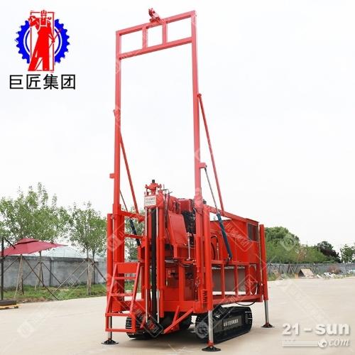 房勘地勘钻探王地质勘探钻机 300米履带式液压岩芯钻机 日进百米