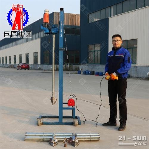 4kw电动打井机小型水井钻机龙门架式可折叠70米民用打井设备