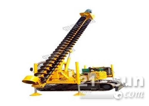 成孔速度快质量保证 8米长轮式螺旋打桩机(中国恒旺)