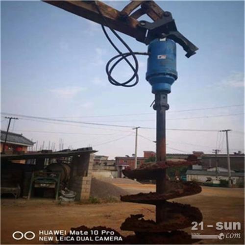 供应地面螺旋钻孔机 挖掘机改装钻孔机 挖机改装房屋地基螺旋钻机