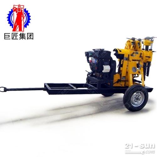 带轮子方便移动液压水井钻机xyx-130型130米地质勘探岩心钻机
