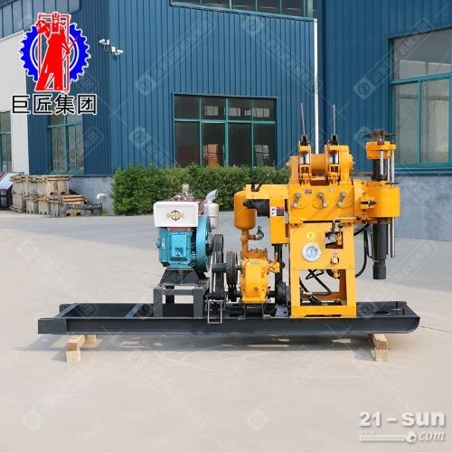 百米液压水井钻机HZ-200Y型200米地质勘探岩心钻机22HP柴油机