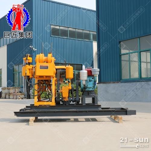 200米岩心勘探钻机巨匠牌液压水井钻机取样钻机进尺快可移机