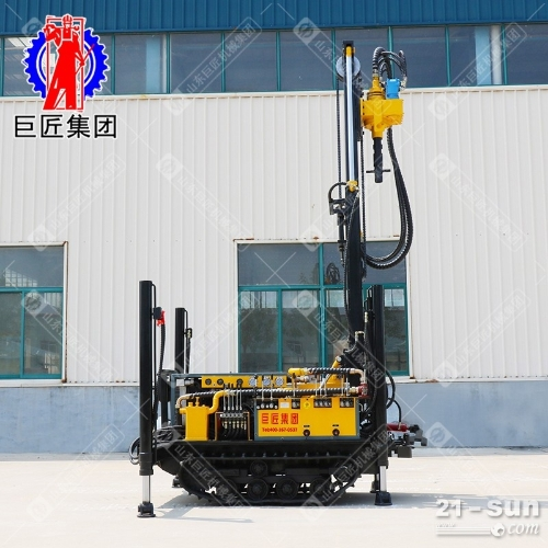 巨匠履带式潜孔钻机CJDX-160气动打井钻机进尺快的空气钻井设备