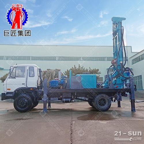 300米车载式气动钻机CJC-300型潜孔钻车效率高的大型深井钻井机