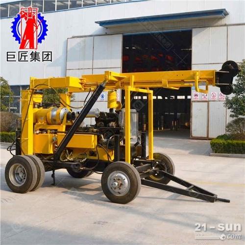 XYX-3轮式液压岩芯钻机勘探取样钻机搬移方便
