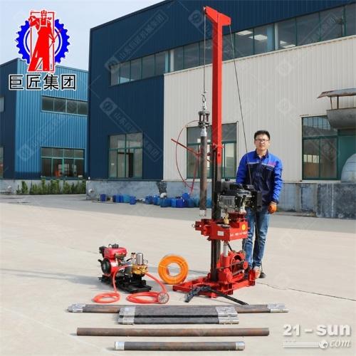 50米地质勘探岩心钻机QZ-3轻便取样取芯钻机柴油机动力进尺快