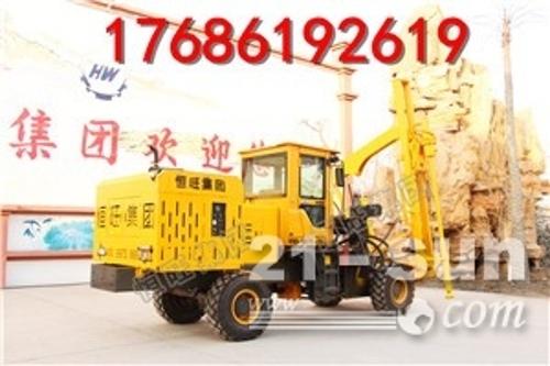 厂家直销轮式钻孔机 多功能高速公路拔桩机 徐州公路护栏打桩机