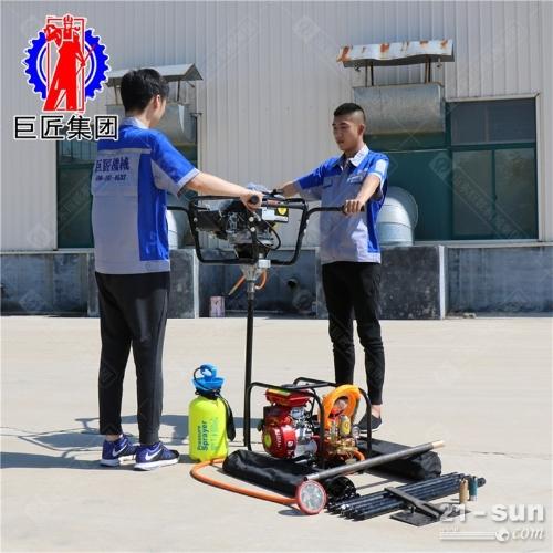 双人便携背包钻机bxz-2科勒动力便携式野外25米浅层地质勘探钻机