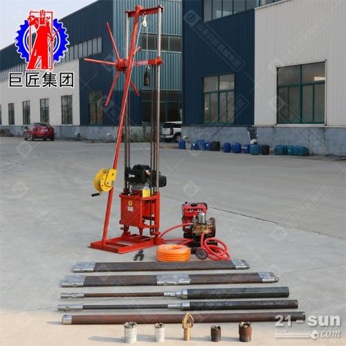 224cc动力30米带卷扬地质勘探钻机省人工轻便岩心取样钻机