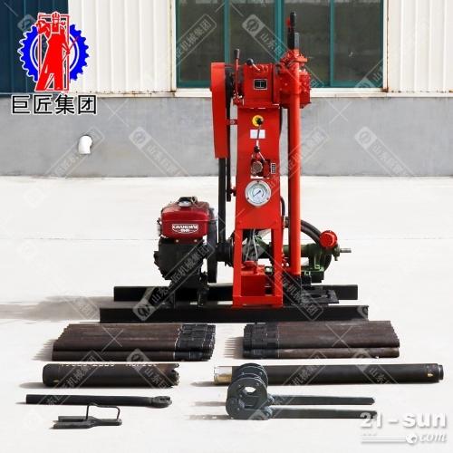 履带式50米小型液压岩心钻机YQZ-50A轻便地质勘探取样取芯钻机柴油机动力
