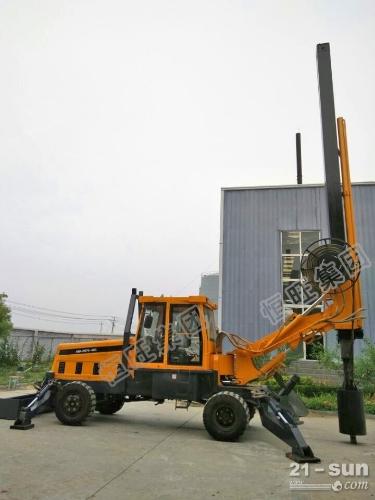 热销轮式旋挖打桩机 15米地基打桩机 轮式旋挖钻机
