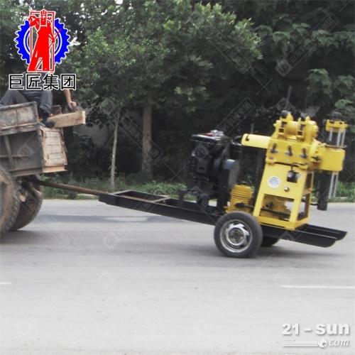 2马力轮式液压水井钻机地质勘探钻机200米岩石取芯取样钻机
