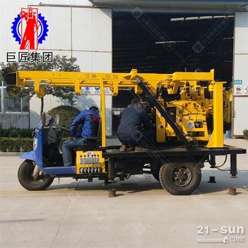 三轮车载液压钻机XYC-200A型200米地质勘探岩心钻机行走移动方便