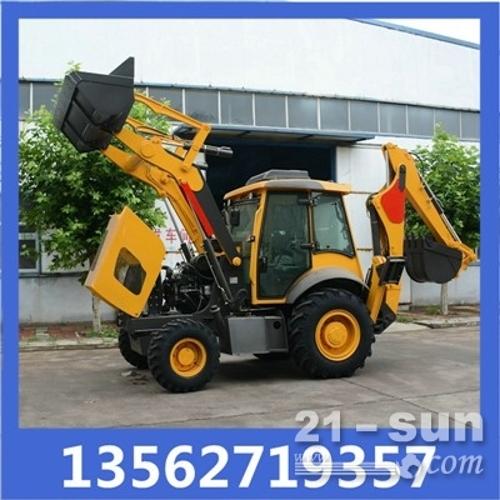 柴油轮式铲车前铲后挖多功能抓木推土机