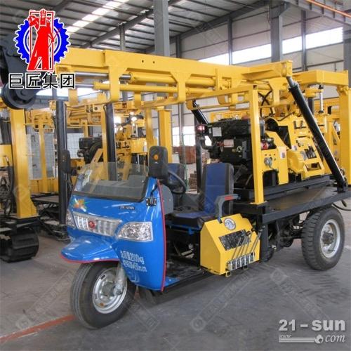 三轮车载地质勘探设备液压打井机xyc-200a 200米岩心钻机