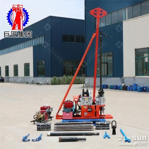 小型地质勘探钻机30米轻便液压勘探取芯钻机动力充沛