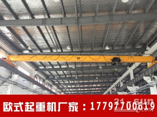 福建莆田欧式起重机生产厂家 5吨欧式单梁行吊得到赞许