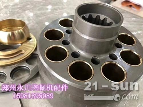 小松200液压泵配件泵胆平面柱塞配油盘回程盘球铰159818...