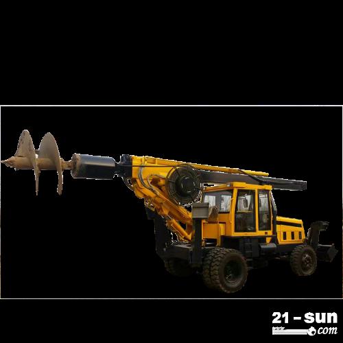 恒旺轮式小型旋挖钻机