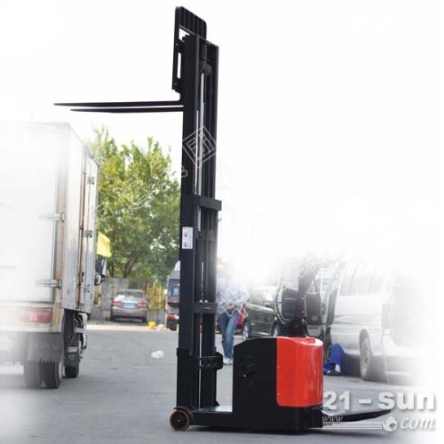 钢铁侠1.5吨3米自动步行式电动堆高车堆垛搬运升高叉车