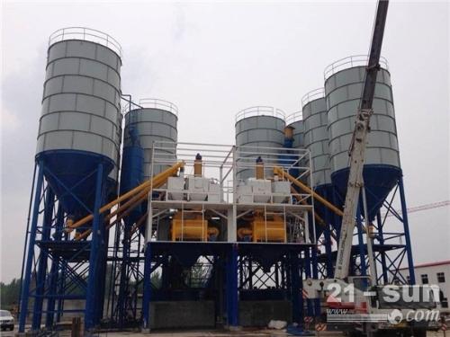 三一二手混凝土搅拌机HZS180整套工程建筑机械转让