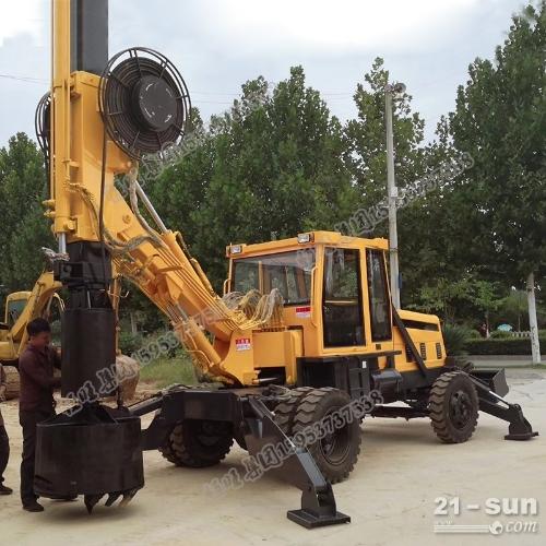 大口径轮式旋挖钻机15米旋挖