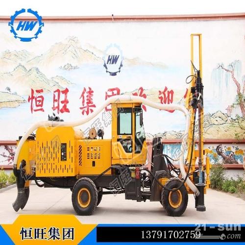 装载机改装高效优质恒旺厂家直销装载式护栏打桩机