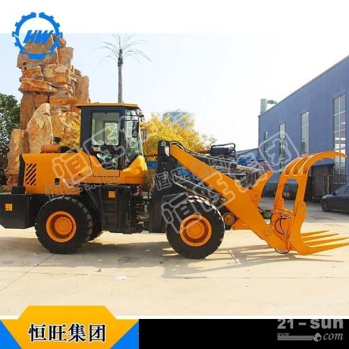 装载机抓木机抓草机装蔗机恒旺厂家直销蔗木可改挖机
