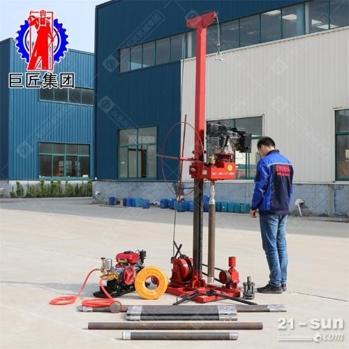 8hp柴油机动力地质勘探工程钻机50米岩心取样钻机