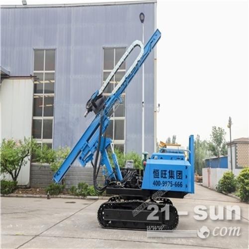 青海光伏打桩机山地专用 履带式工程打桩机 太阳能光伏基础压桩机