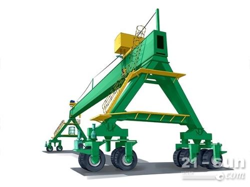 福建福州轮胎式起重机厂家直销32吨20米跨龙门吊