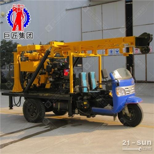 三轮车载打井设备 200米液压打井机 民用钻井设备