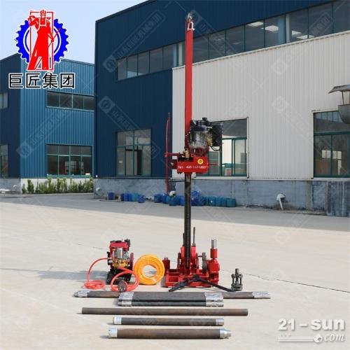 8hp柴油机动力地质勘探工程钻机 50米岩心取样钻机