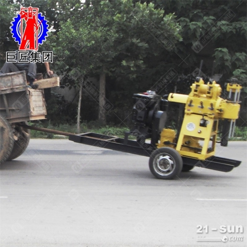 22马力轮式液压水井钻机地质勘探钻机200米
