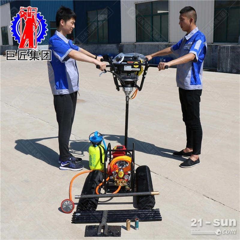 山东巨匠小型背负式钻机BXZ-2岩心取样设备