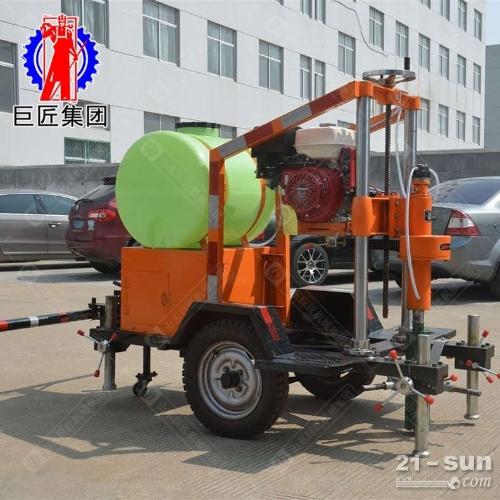 HZQ-20T拖挂式混凝土钻孔取芯机 公路打孔取芯