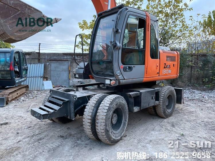 日立ZX130W二手轮式挖掘机