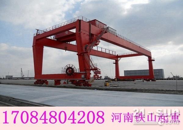 甘肃庆阳轮胎门式起重机厂家生产MH型电动葫芦龙门吊