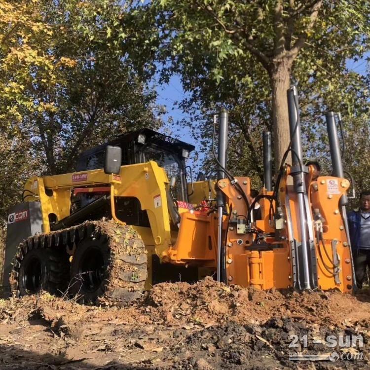 挖树机轻松地切入泥土 液压多瓣挖树机
