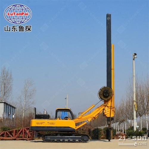 全液压打桩机旋挖钻机 小型建筑地基用桩机 钢制履带底盘