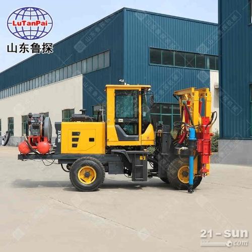 DZC-Ⅱ型装载式护栏打拔钻一体机集打桩 拔桩 钻孔与一体
