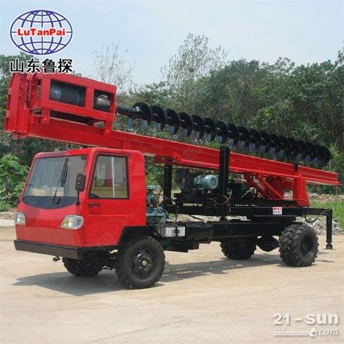 建筑地基 电力设施打桩机 双排座长螺旋打桩机