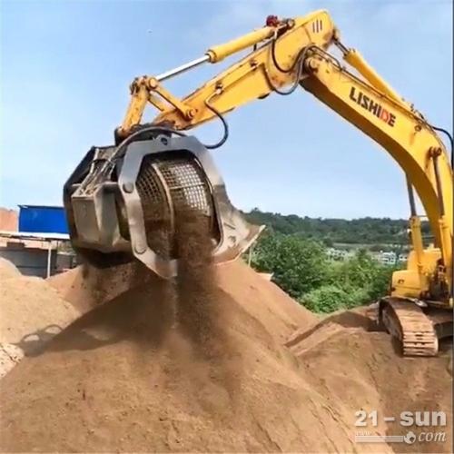 挖掘机筛分斗筛网根据需求选着 土壤清洁工程
