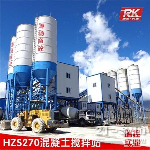 厂家供应hzs180混凝土搅拌站瑞控实业质量保障