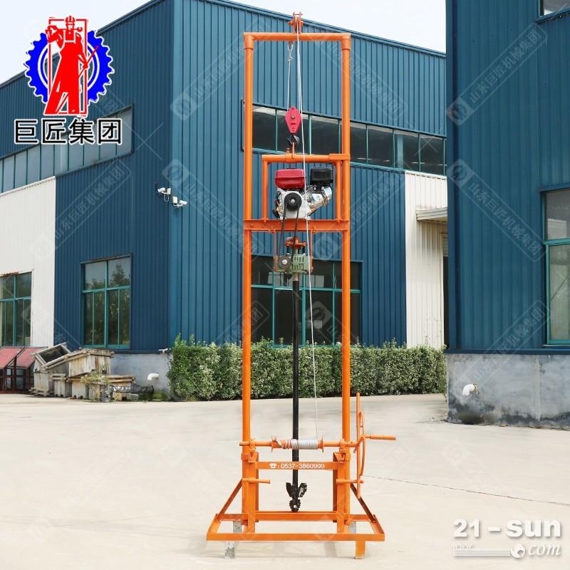 野外便携式钻井机 100米声测管堵塞疏通钻机 基坑监测钻孔机