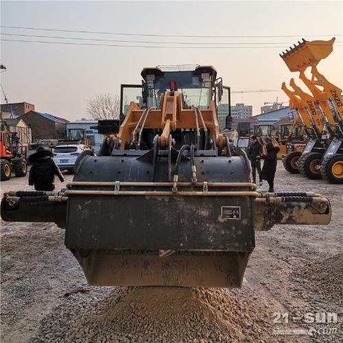 2021年新款30铲车改装混凝土搅拌斗下开口卸料